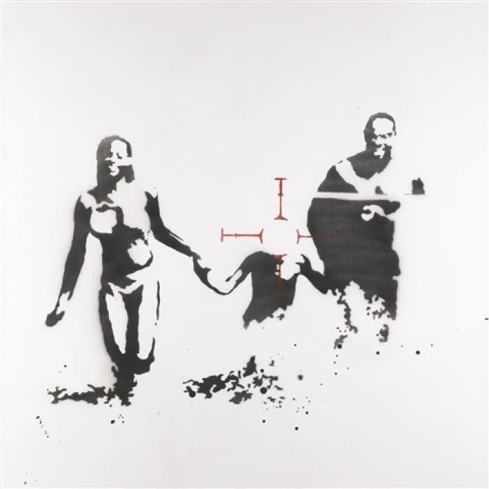 20150218093518-Banksy-Family-Targer-2003-3x25-36x36-91.5x91.5-700x700