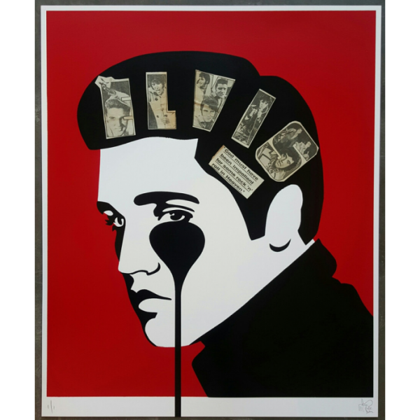Elvis with collage