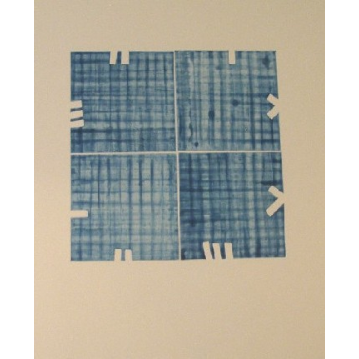 Etching with Aquatint Blue Squares