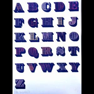 Alphabet (Blue and White)