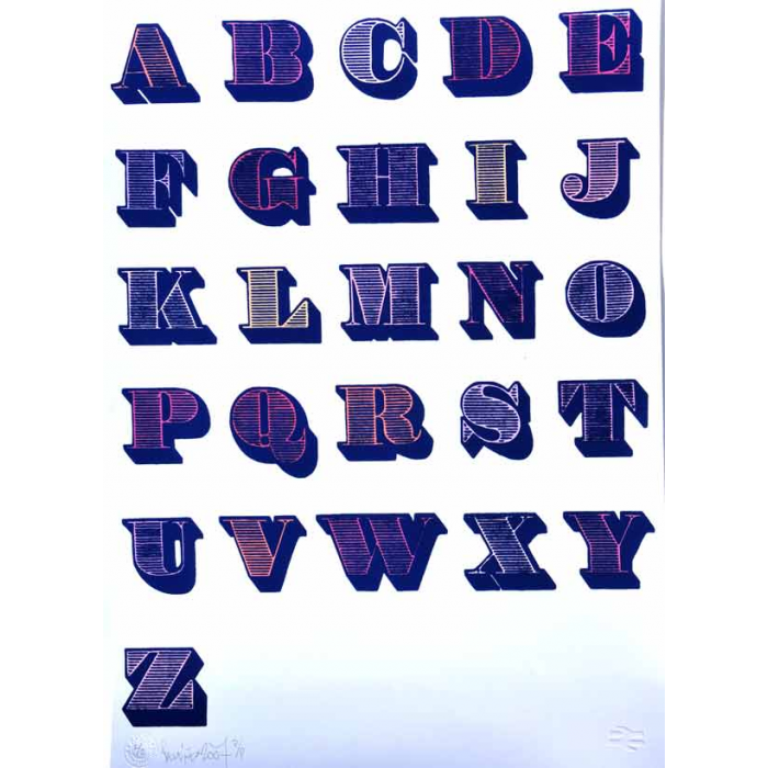 Alphabet (Blue and White)