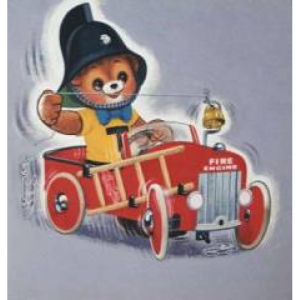 Teddy and the fire engine