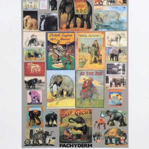 Peter Blake Alphabet P is for Pachyderm Elephant