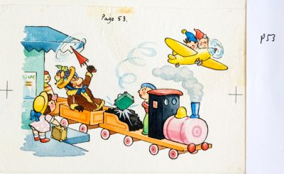 Noddy & Big Ears Fly Plane Whilst Monkey's Ride Train, Page 53